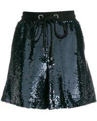 Emporio Armani - Drawstring Sequin Shorts - Lyst