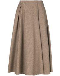 Rochas - Flared Midi Skirt - Lyst