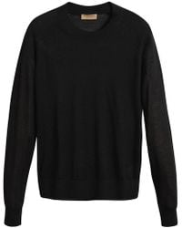 Burberry - Open-stitch Detail Cashmere Sweater - Lyst