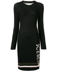 Iceberg - Stretch Logo Dress - Lyst
