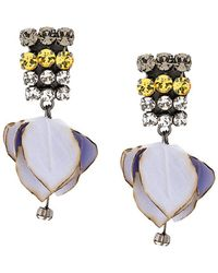 Marni - Mismatched Floral Pendant Earrings - Lyst