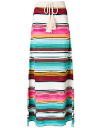 Laneus - Striped Drawstring Skirt - Lyst