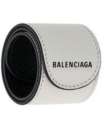 32c0e61238f34 Lyst - Balenciaga Luxurious Leather Snap Bracelet in Black for Men