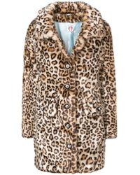 Shrimps - Leopard Print Faux Fur Coat - Lyst