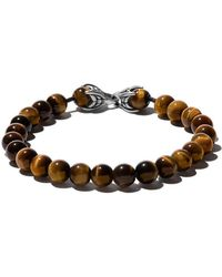 David Yurman - Spiritual Beads Tiger Eye Bracelet - Lyst