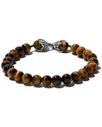 David Yurman - Bracciale 'Spiritual Beads' con occhio di tigre - Lyst