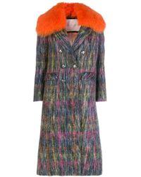 Giada Benincasa - Fur Trimmed Collar Coat - Lyst