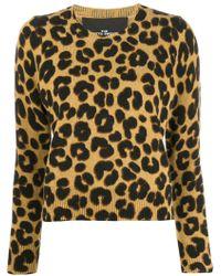 2aedf1213c73 Marc Jacobs Stripe Print Sweater in Black - Lyst