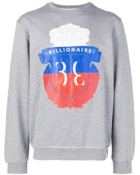 Billionaire - Printed Logo Sweater - Lyst