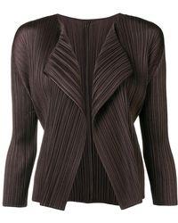 Pleats Please Issey Miyake - Pleated Asymmetric Jacket - Lyst
