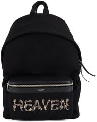 107107fe3a Saint Laurent - City Embroidered Backpack - Lyst