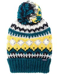 Woolrich - Embroidered Beanie Hat - Lyst
