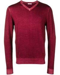Sun 68 - Slim-fit Logo V-neck Sweater - Lyst