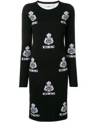 Iceberg - Logo Knitted Dress - Lyst