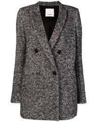 Pinko - Double Breasted Blazer - Lyst