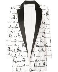 Oscar de la Renta - Shawl Collar Printed Blazer - Lyst