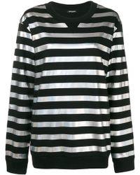 Balmain - Metallic Striped Sweatshirt - Lyst