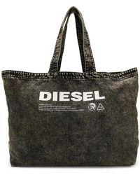 DIESEL - Printed Logo Tote Bag - Lyst