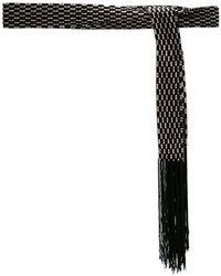 Lyst - Ceinture en cuir Alaïa en coloris Noir 799edba3007