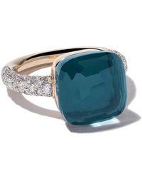 Pomellato - 18kt Rose & White Gold Nudo Topaz & Diamond Ring - Lyst