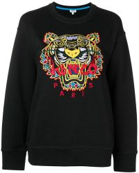 KENZO - Embroidered Tiger Sweatshirt - Lyst