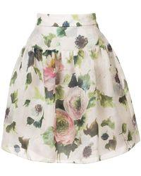 Marchesa - Floral-print Skirt - Lyst
