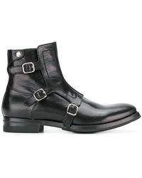 Alexander McQueen | Monk Strap Boots | Lyst