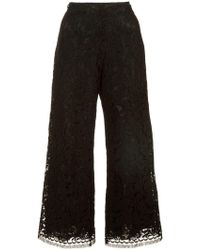 Adam Lippes - Corded lace cropped trousers - Lyst