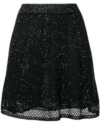 M Missoni - Sequin Embroidered Skirt - Lyst