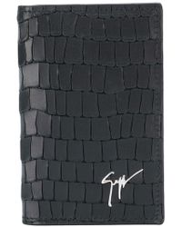 Giuseppe Zanotti | Small Textured Logo-embossed Wallet | Lyst