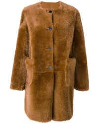 Marni - Shearling Fur Coat - Lyst