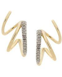 Maria Black - Fury Diamond Twirl Earrings - Lyst