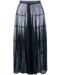 Jil Sander - Flared Sheer Maxi Skirt - Lyst