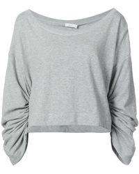A.L.C. - Ruched Sleeve Sweatshirt - Lyst