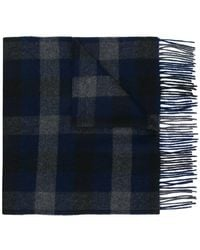 Theory - Checked Scarf - Lyst
