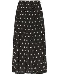 Sandy Liang - Floral Polka Dot Print Uniform Skort - Lyst