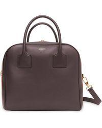 daf8421d96f2 Burberry - Medium Stripe Intarsia Leather Cube Bag - Lyst