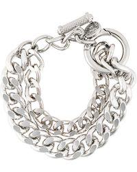 DIESEL - Double Chain Wrapped Bracelet - Lyst