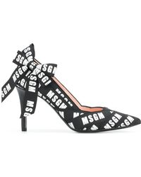 MSGM - Bow Detail Printed Court Shoes - Lyst