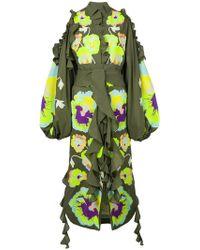 Yuliya Magdych | Pansies Ruffle Trim Dress | Lyst
