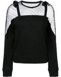 RED Valentino - Lace Panel Sweatshirt - Lyst