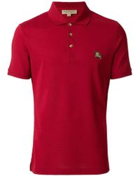 Burberry - Embroidered Logo Polo Shirt - Lyst