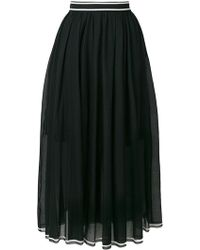 Philosophy Di Lorenzo Serafini - Pleated Mid Skirt - Lyst