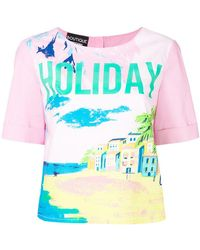 Boutique Moschino - Holiday Print T-shirt - Lyst