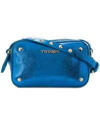 Twin Set - Metallic Studded Shoulder Bag - Lyst