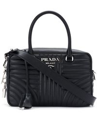 Prada - 1bb1132d91vmoi F0002 Leather/fur/exotic Skins->calf Leather - Lyst