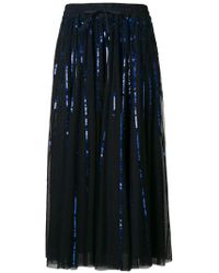 P.A.R.O.S.H. - Sequinned Tulle Skirt - Lyst
