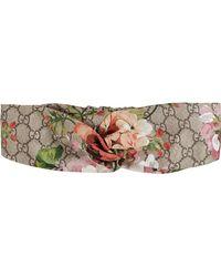 62d00e6bffc Gucci - Blooms Print Silk Headband - Lyst