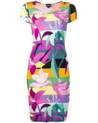Just Cavalli - Floral Print T-shirt Dress - Lyst
