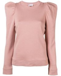 RED Valentino - Neck-tied Fitted Sweater - Lyst
